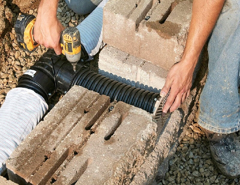 Retaining wall drainage - how to build a retaining wall