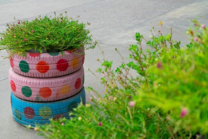 30 ways to upcycle old tires in your garden. useful + decorative ideas